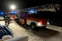 Požár komínu ve Varnsdorfu.