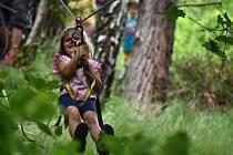 Děti si užily adrenalinové zážitky na R-Manu.