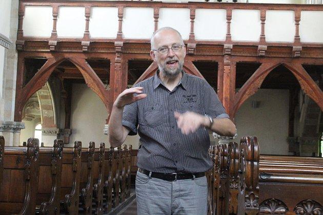 Evangelický farář Tomáš Matějovský.