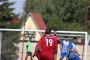 JIŘÍKOV (červené dresy) doma udolal Chabařovice 2:1.