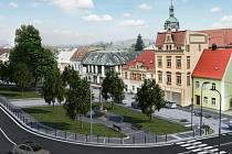 Vizualizace šluknovského náměstí.