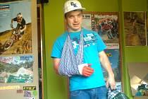 SMŮLA. Milan Myšík po svém zranění.