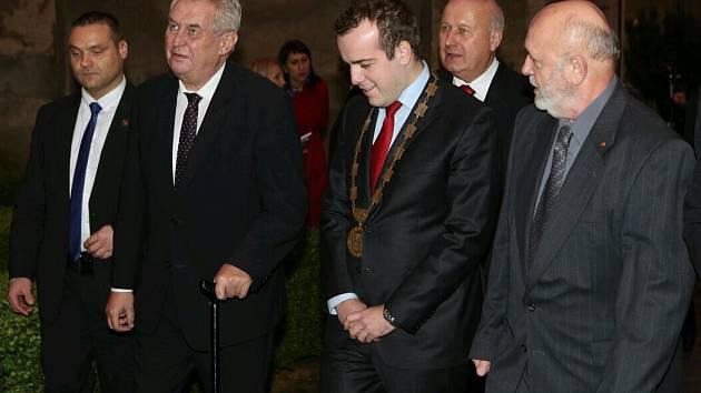 Miloš Zeman v Benešově nad Ploučnicí.