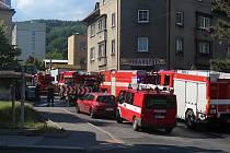 Požár domu v Rudolfově ulici v Bynově.