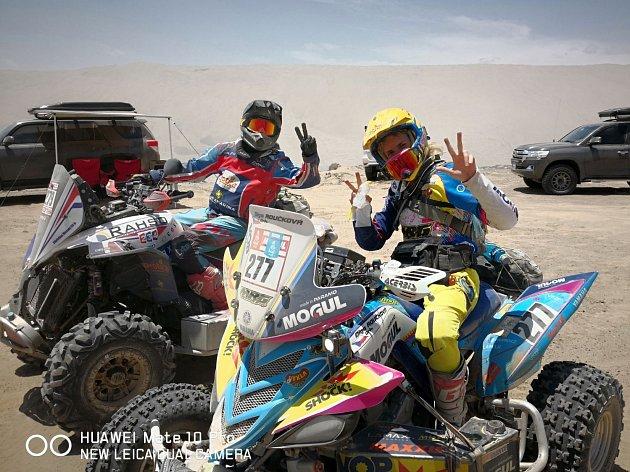OLGA ROUČKOVÁ zatím Rallye Dakar zvládá.