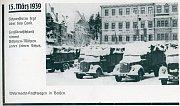 Nacistická vojska v Benešově nad Ploučnicí na náměstí.