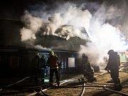 Požár rodinného domu v Rumburku.