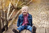 Věruška trpí Downovým syndromem.