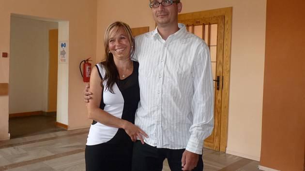 Miroslav Hrma, se svou manželkou.