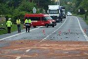 Tragická dopravní nehoda v Choraticích.