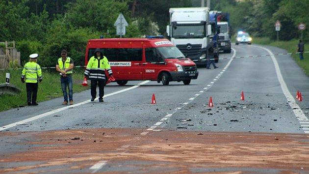 Smrtelná dopravní nehoda v Choraticích