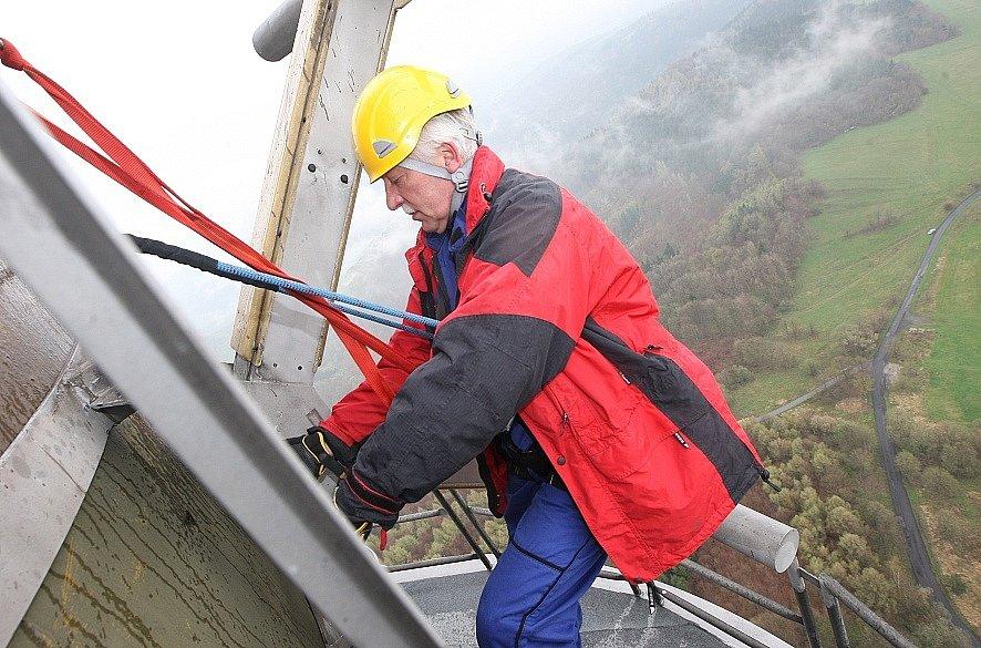 Údržba vysílače Buková Hora