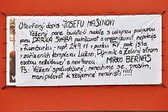 Dopis Mašínovi, vyvěšený na veřejnosti