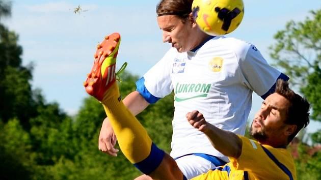 MAREK VOLF (na snímku v utkání proti Zlínu) společně se svými spoluhráči vybojoval ve Fotbalové národní lize konečné čtvrté místo.