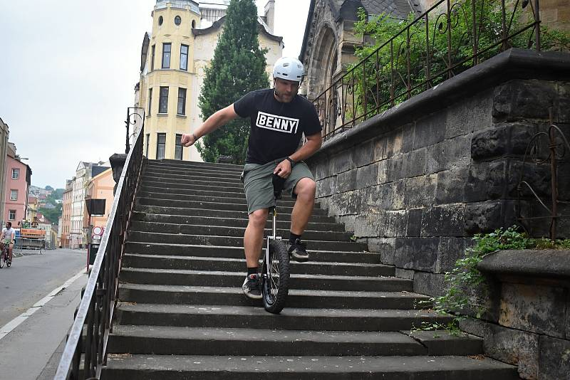 Jednokolkový rekordman Petr Beneš.