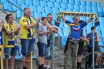 FOTBAL BEZ DIVÁKŮ? Fotbalisté Varnsdorfu hrají v neděli od 14.30 doma proti Hradci Králové. Je pravděpodobné, že zápas se odehraje bez diváků.