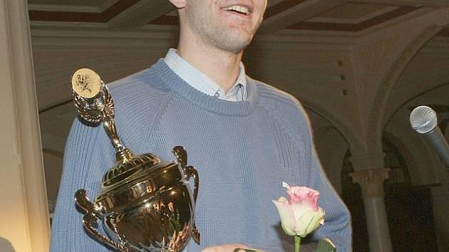 Loňský vítěz basketbalista Jakub Houška.