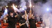 První finálové utkání basketbalové ligy se hrálo na děčínském zimním stadionu. Válečníci se utkali s Nymburkem.
