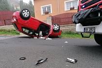 Dopravní nehoda v Děčíně - Václavově.