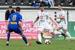 BRAVO! Varnsdorf (v modrém) vyhrál v Hradci Králové 1:0.