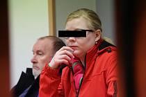 Jedenadvacetiletá žena z Děčína u soudu v Ústí nad Labem.