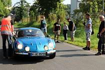 Krásnou Lípou projel závod automobilových veteránů Sachsen Classic