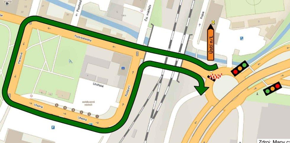 Silnice Čsl. mládeže bude od pondělí uzavřena.