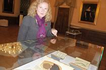 Výstava vzácných rukopisů na děčínském zámku.