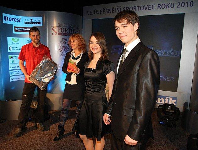 Michal Češka na vyhlášení nejlepšího sportovce s Karolínou Procházkovou.