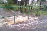 Velká voda ve Verneřicích.