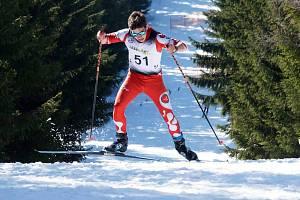 NENAŠEL KONKURENCI. Děčínský lyžař Daniel Oskar Hozák byl na sněhu opět nejlepší.