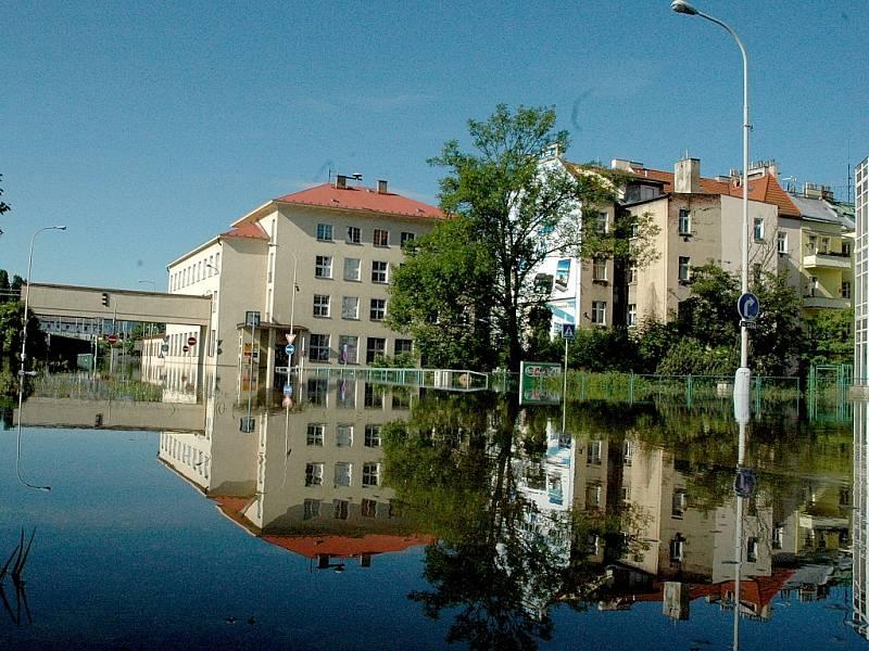 Povodně v Děčíně 5.6. dopoledne. Rok 2013
