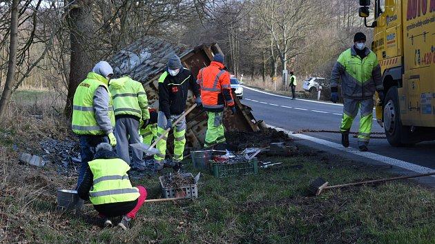 Nehoda kamionu u Markvartic