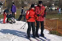 O víkendu se lyžovalo nalehko.