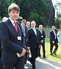 Premiér Bohuslav Sobotka se v Děčíně nalodil na Vltavu