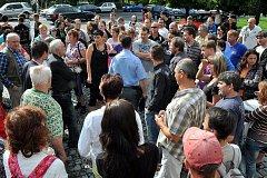 VE VARNSDORFU nakonec proběhlo setkání občanů.