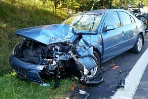 Dopravní nehoda osobního auta. Ilustrační foto.