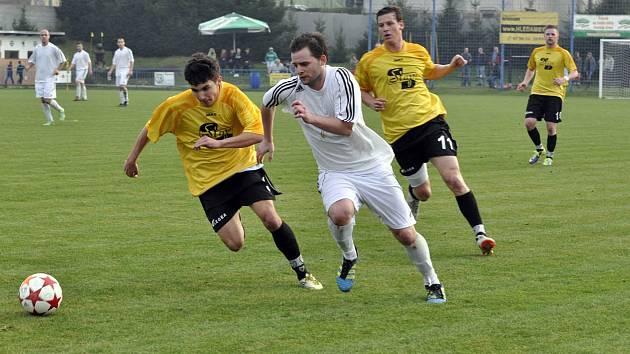 DEBAKL. Souboj mezi Vilémovem a Modrou nenabídl napínavou zápletku. Vilémovští fotbalisté doma zvítězili jasně 7:0.