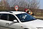 Kontroly na hranicích v Rumburku.
