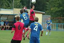 JUNIOR DĚČÍN (v modrém) doma prohrál 0:3 s Litoměřicemi.
