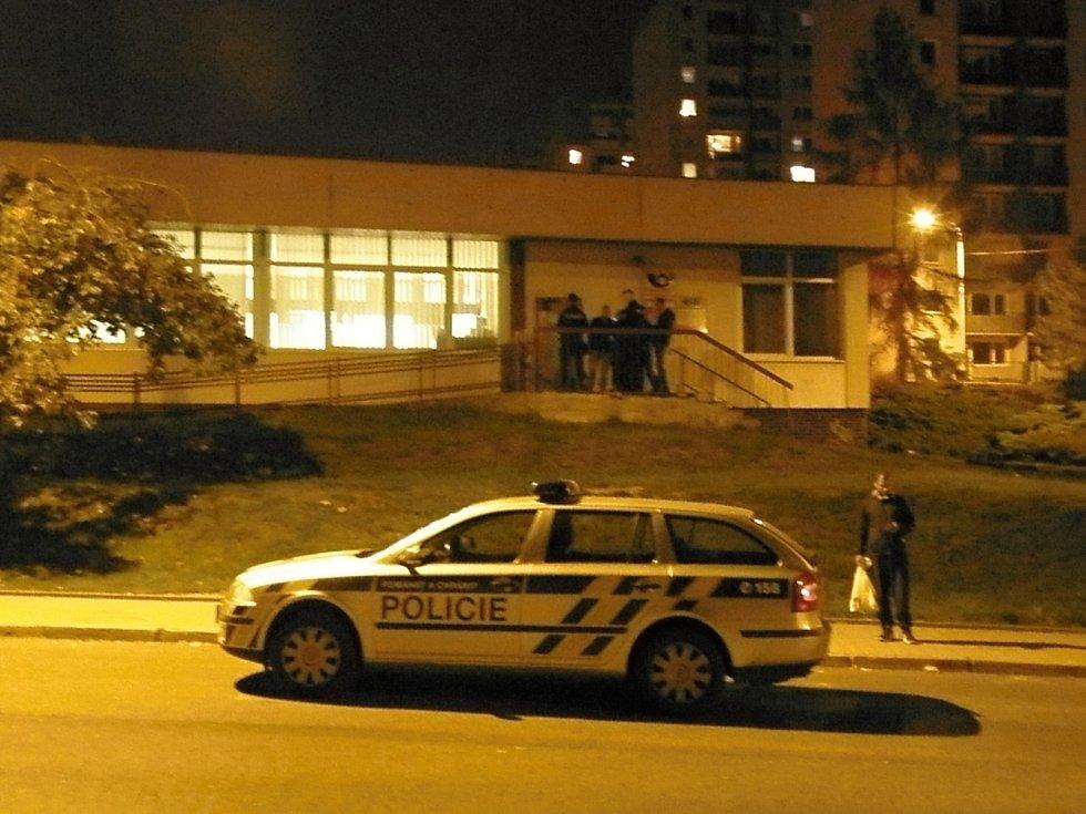 Přepadená pošta v Děčíně - Boleticích.