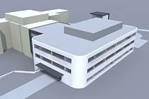OPERAČNÍ SÁLY. V sousedství chirurgie děčínské nemocnice vyroste nový pavilon s operačními sály a emergency.