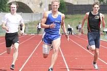 Sprint na sto metrů vyhrál děčínský Martin Horák.