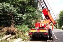 Zásah dobrovolných hasičů.