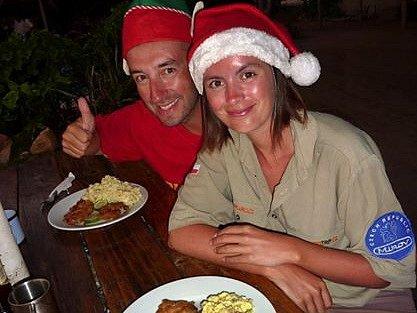 Cestovatelé slavili Vánoce v Africe.