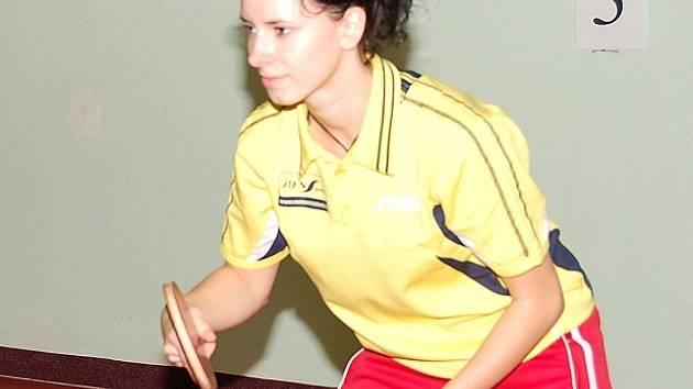 Prvoligová Zuzana Rambousková.
