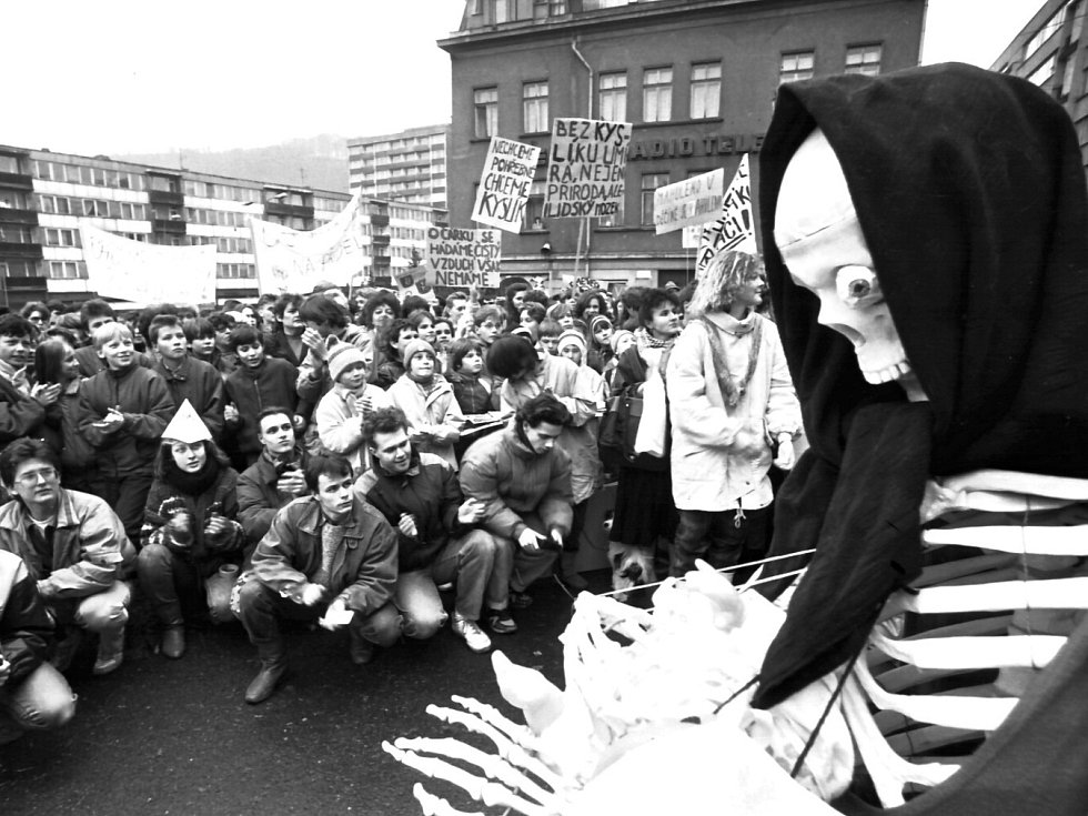 Sametová revoluce probíhala v listopadu 1989 také v Děčíně.