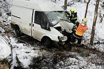 Dopravní nehoda v Brtníkách.