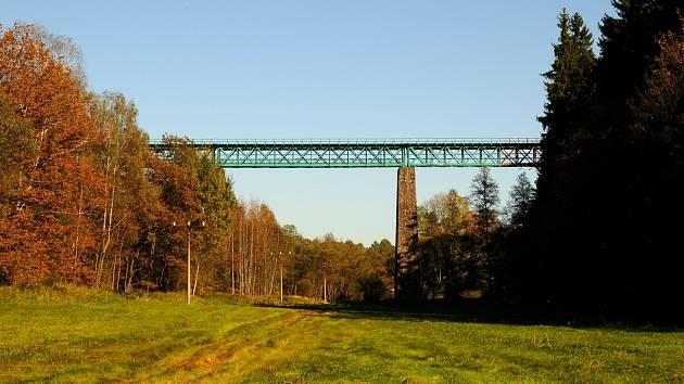 Vilémovský  železniční viadukt.