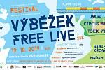 Plakát na festival Výběžek free L!VE.